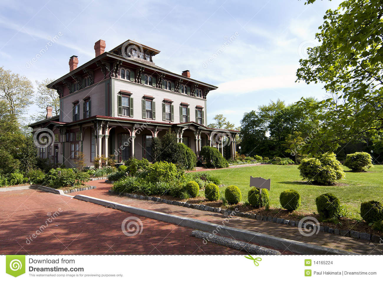 Historic Victorian Mansion Stock Photo Image Of Building