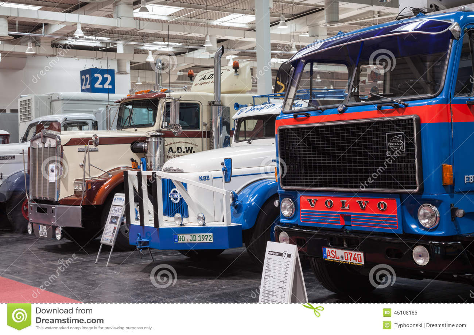 historic volvo and kenworth trucks editorial image image of kenworth vehicle 45108165. Black Bedroom Furniture Sets. Home Design Ideas