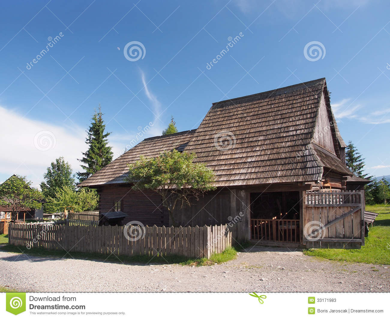 Historic wooden house in Pribylina
