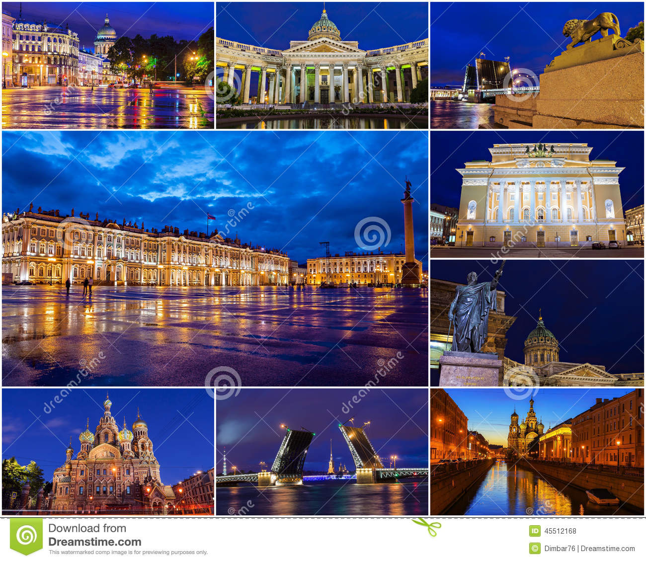 Historical Attractions Of St Petersburg Russia Collage