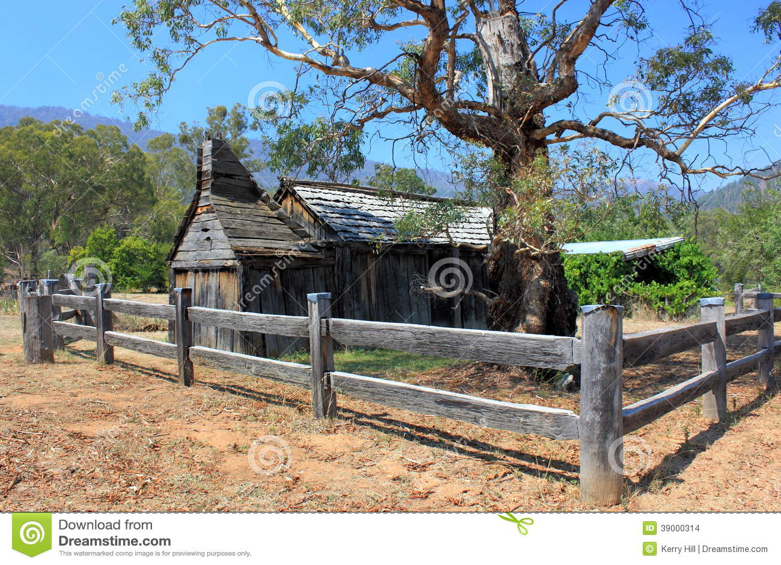 Historical Australian Settlers School House Stock Photo