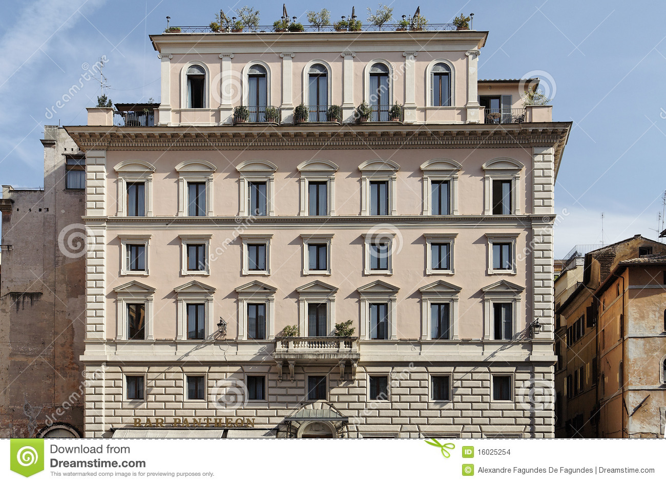 Historical building facade in rome stock photo image Building facade pictures