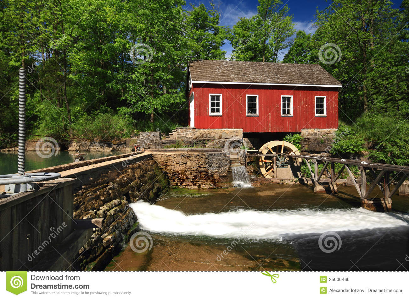 Historical Building Of Old Water Sawmill  Stock Photo - Image of