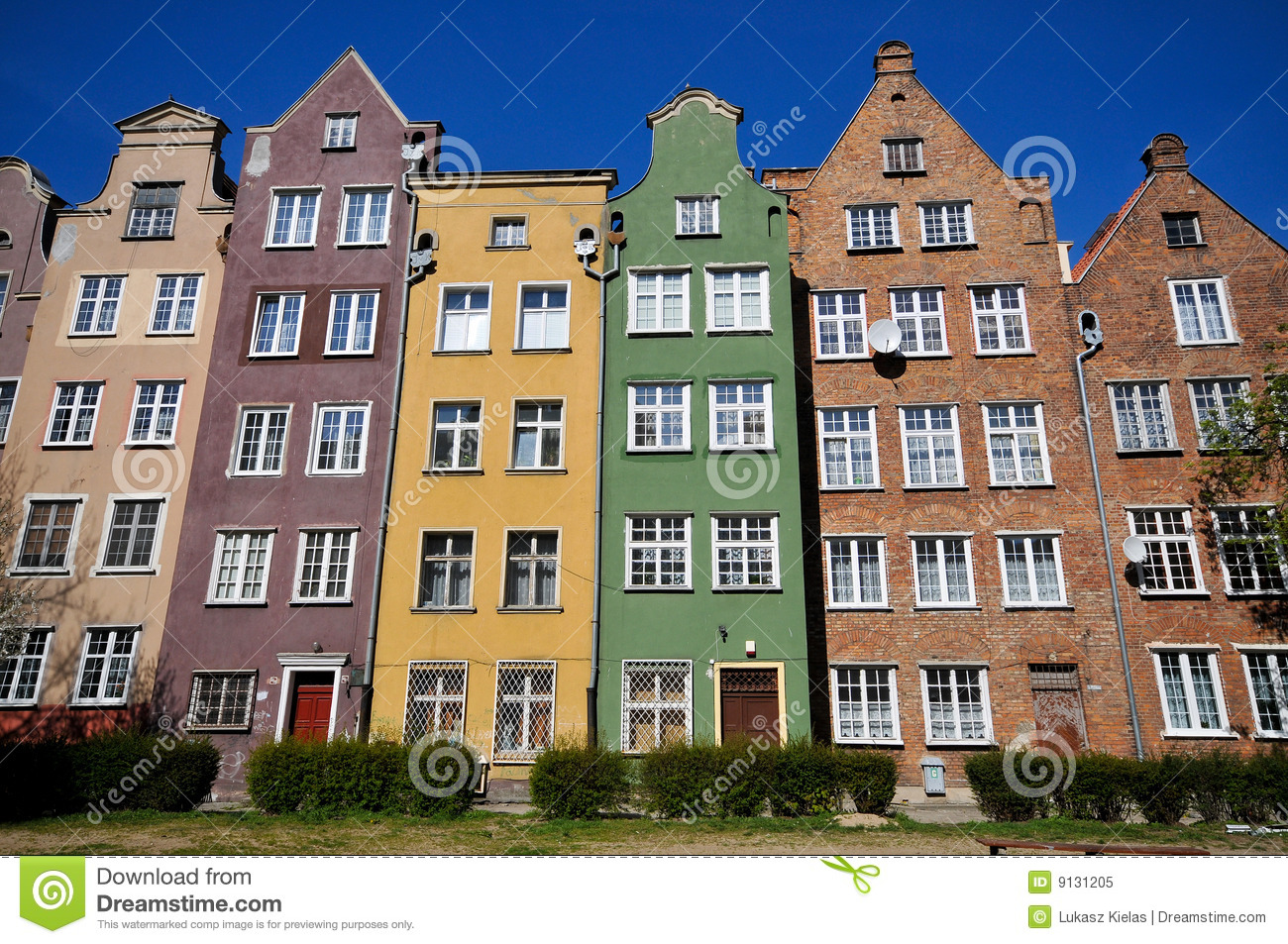 ... Buildings In Gdansk Royalty Free Stock Photo - Image: 9131205