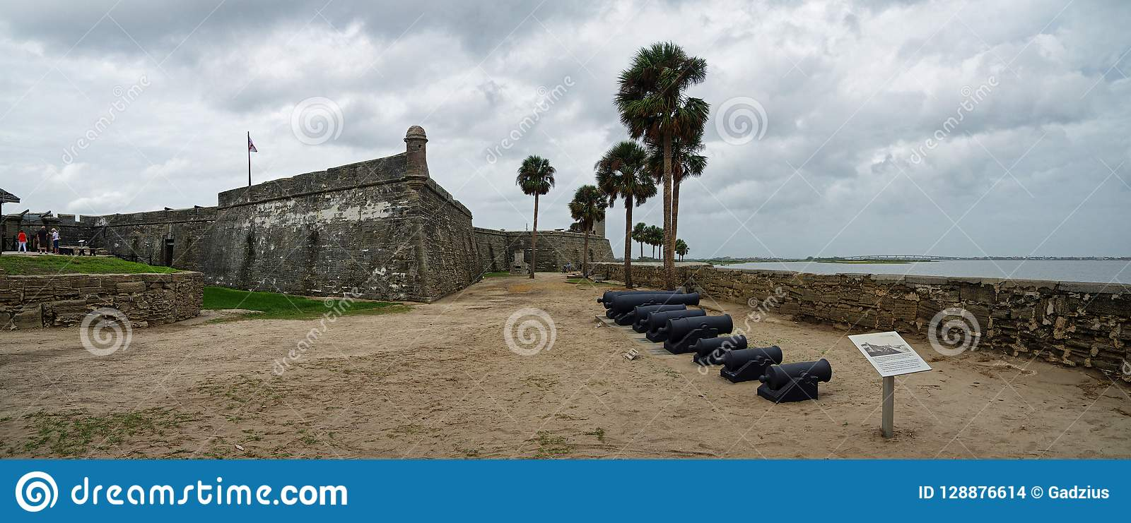 Historical Castillo de San Marcos in St. Augustine, Florida, USA