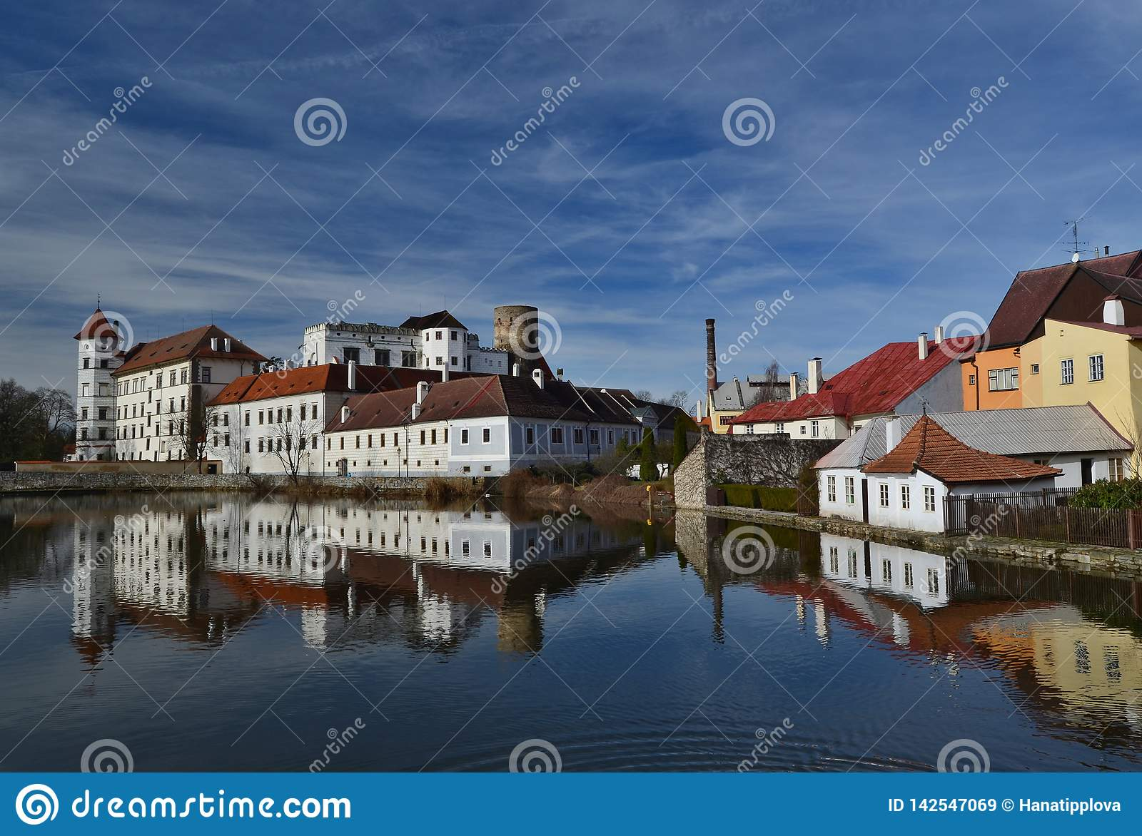 The historical castle complex, the town of Jindrichuv Hradec, the southern Bohemia