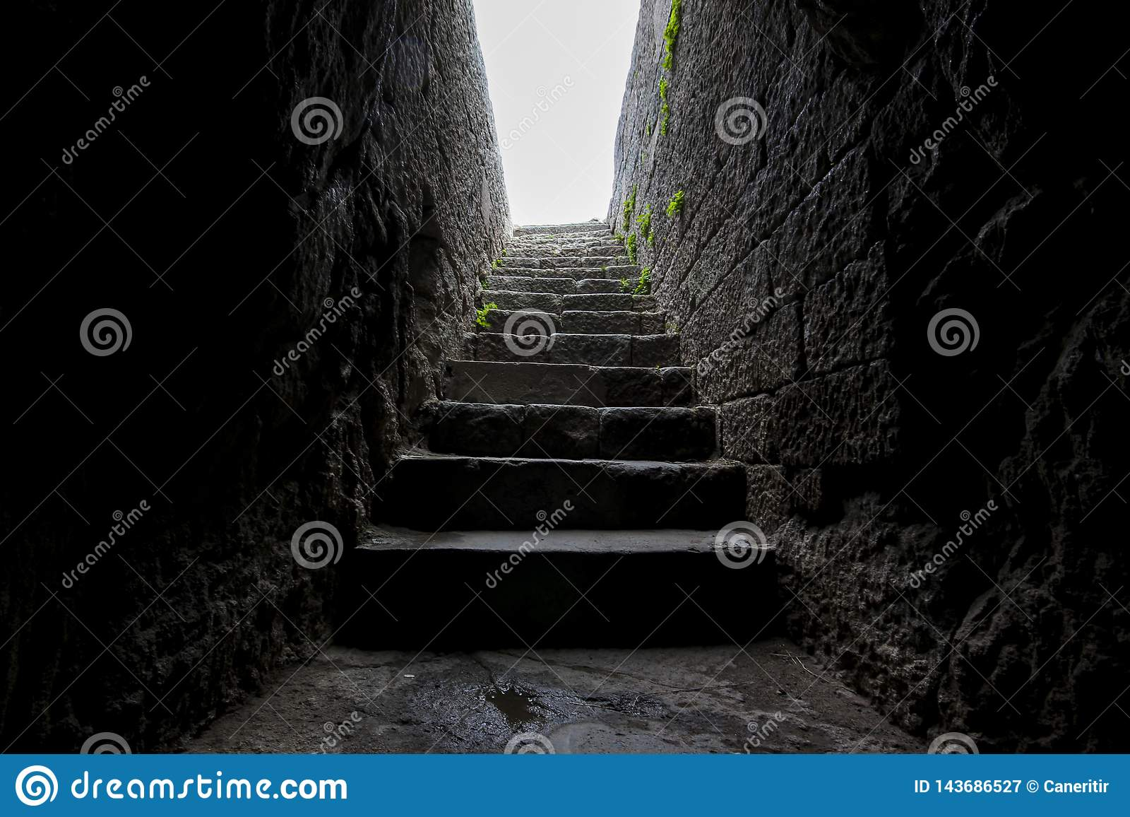 Historical enterance stone slab stairs