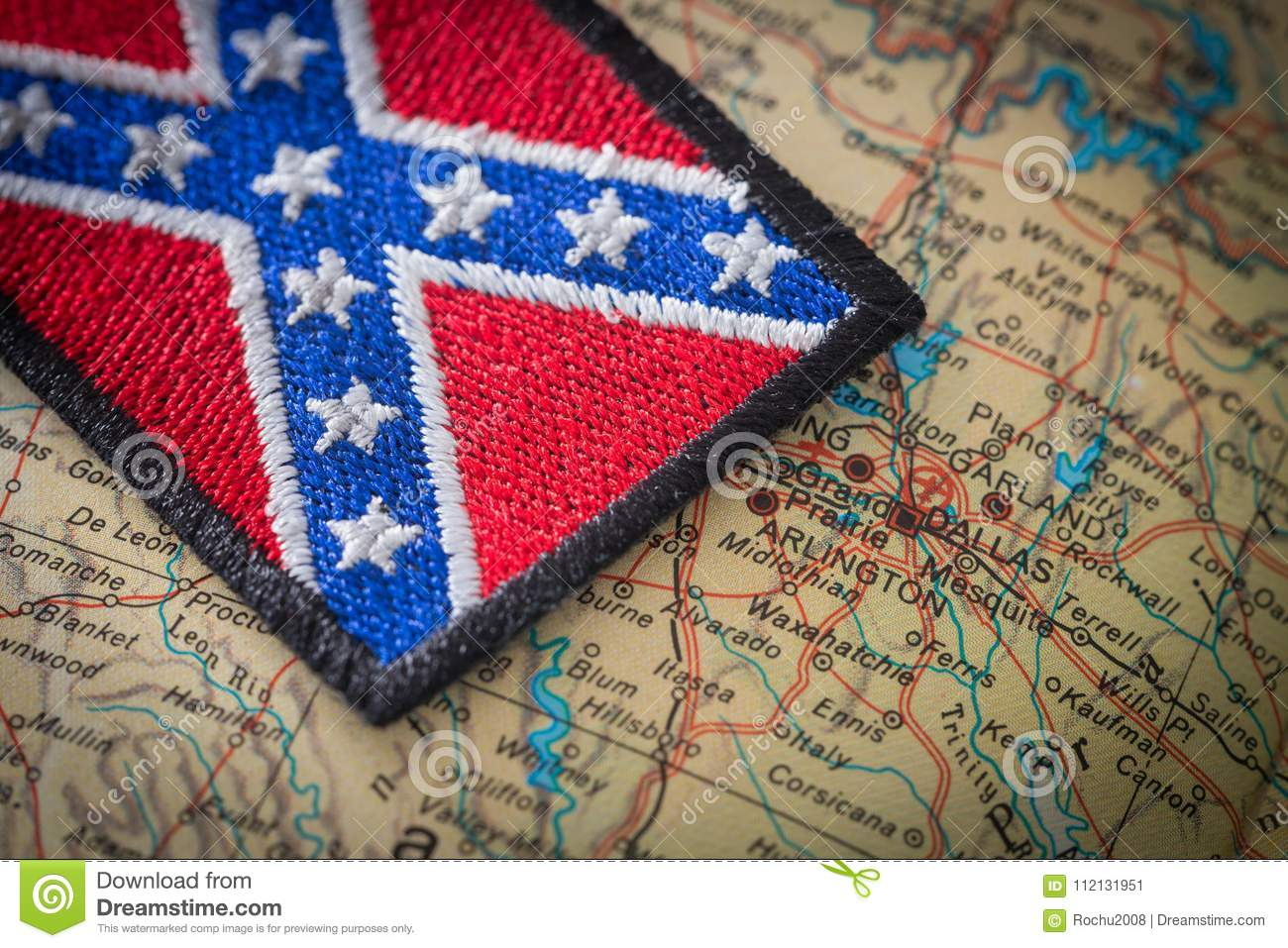 Historical Flag Of The South Of The United States On The ...