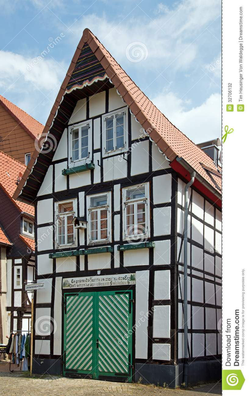 Historical half timbered house stock photography image for Half timbered house plans