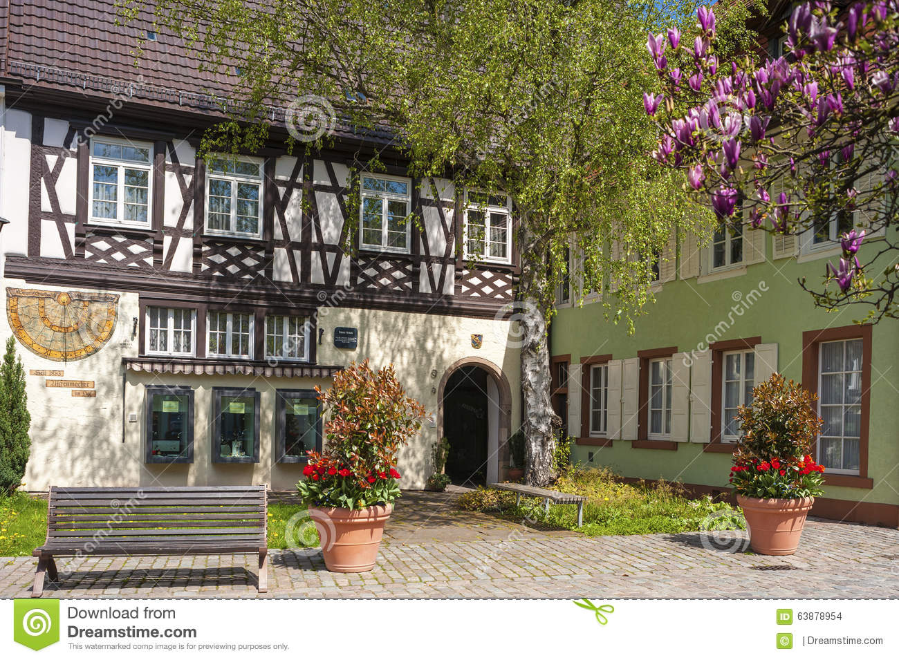 The historical half timbered house palace of gebele stock for Half timbered house plans