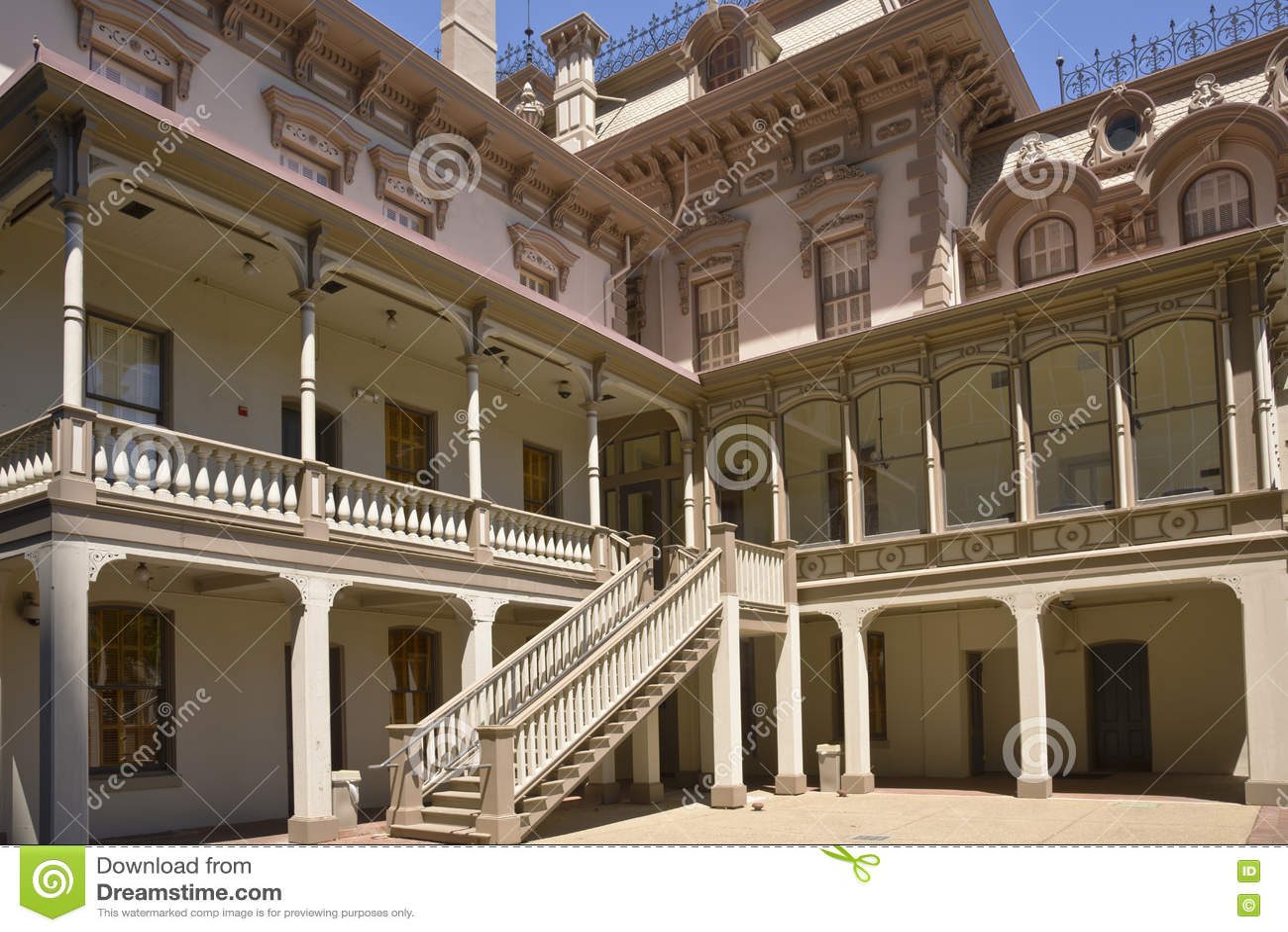 Historical house in Sacramento California. - Historical House In Sacramento California. Stock Image - Image Of