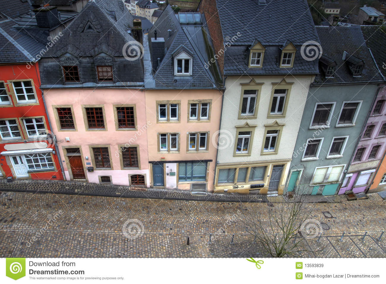 Historical houses in luxembourg city royalty free stock for Luxembourg homes