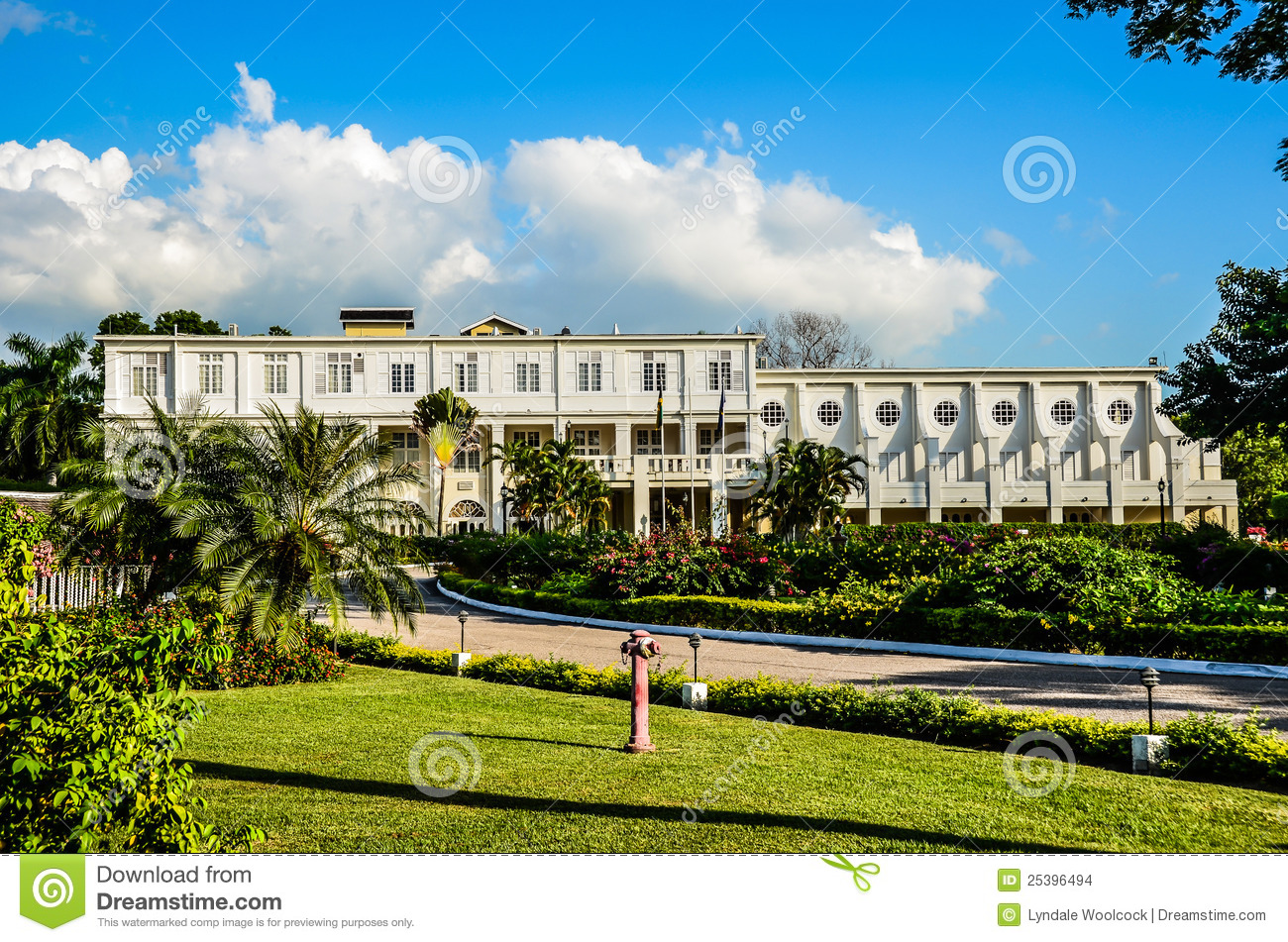 Historical Kings House Jamaica Stock Photo Image 25396494