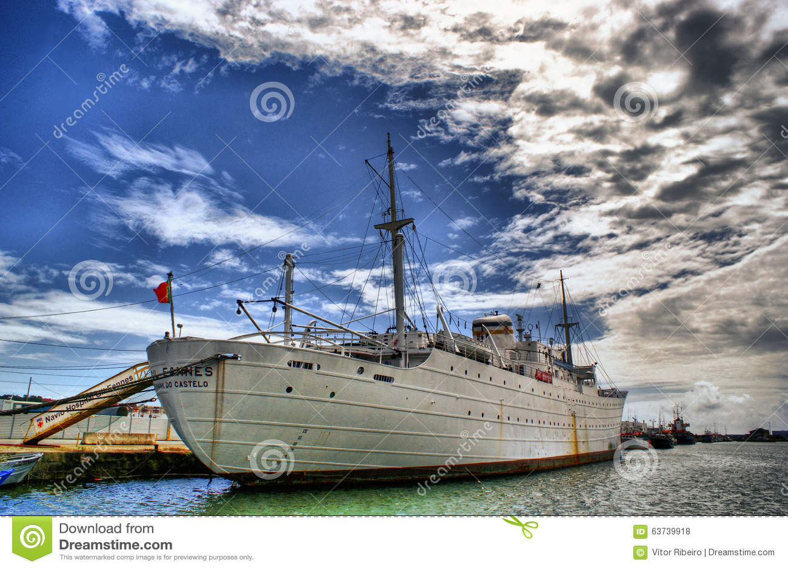 The historical medical ship Gil Eanes in Viana do Castelo