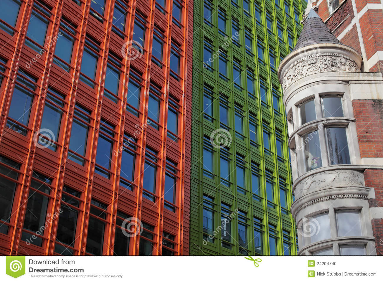 Historical and modern architecture in london stock photo for Architecture londres