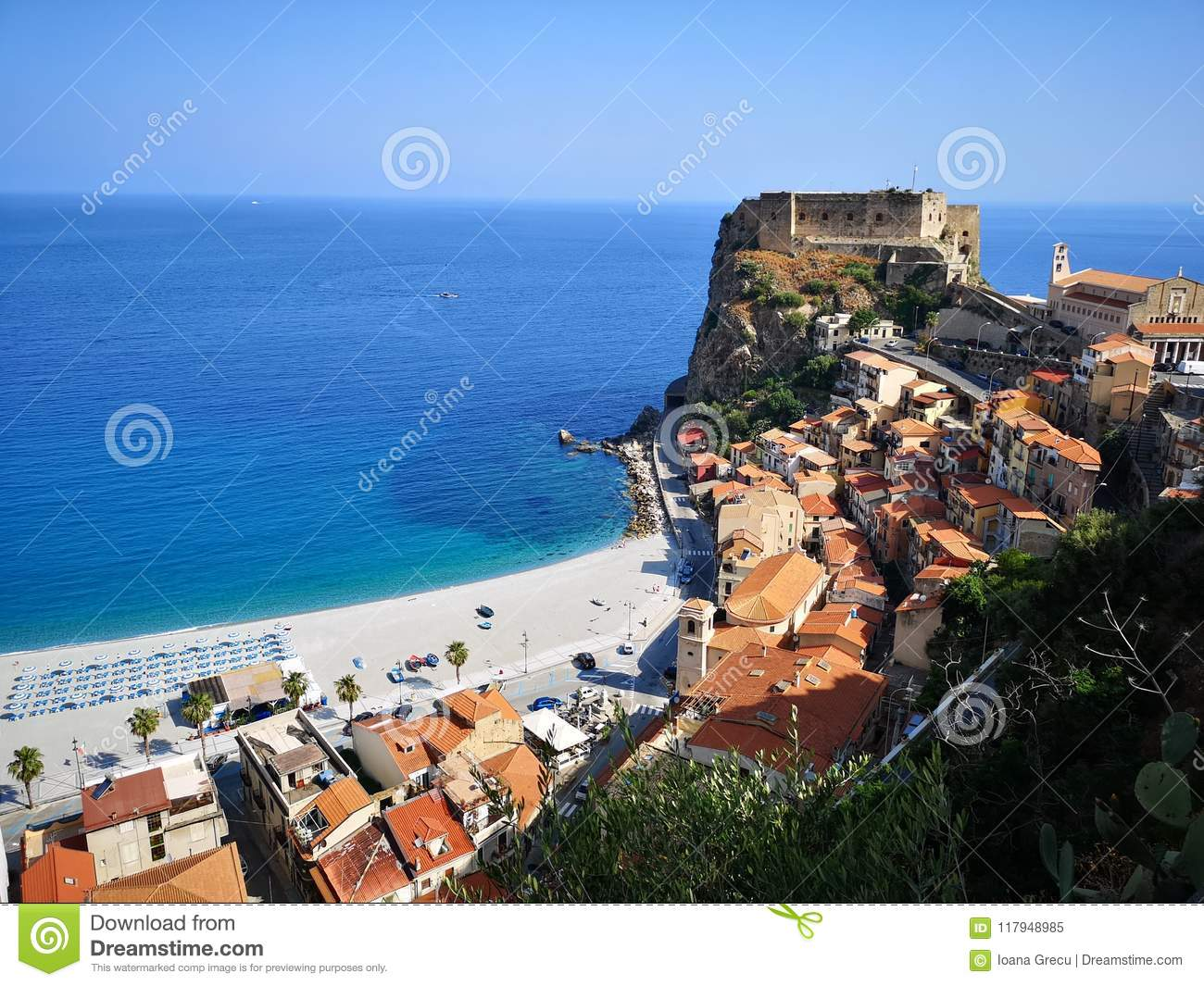 Historical town of Scilla, Italy