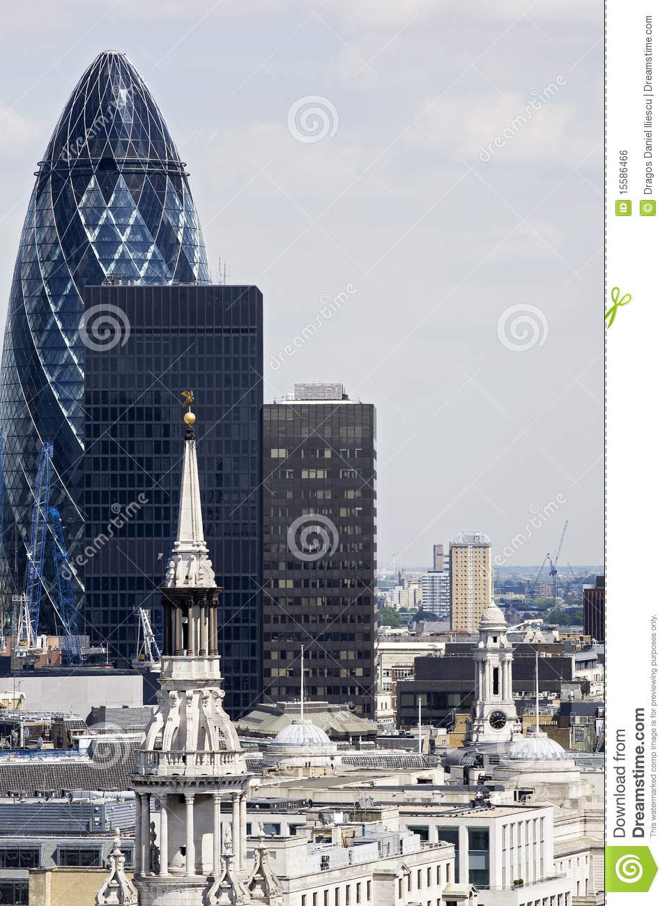 Historical And New Buildings From London UK Royalty Free Stock