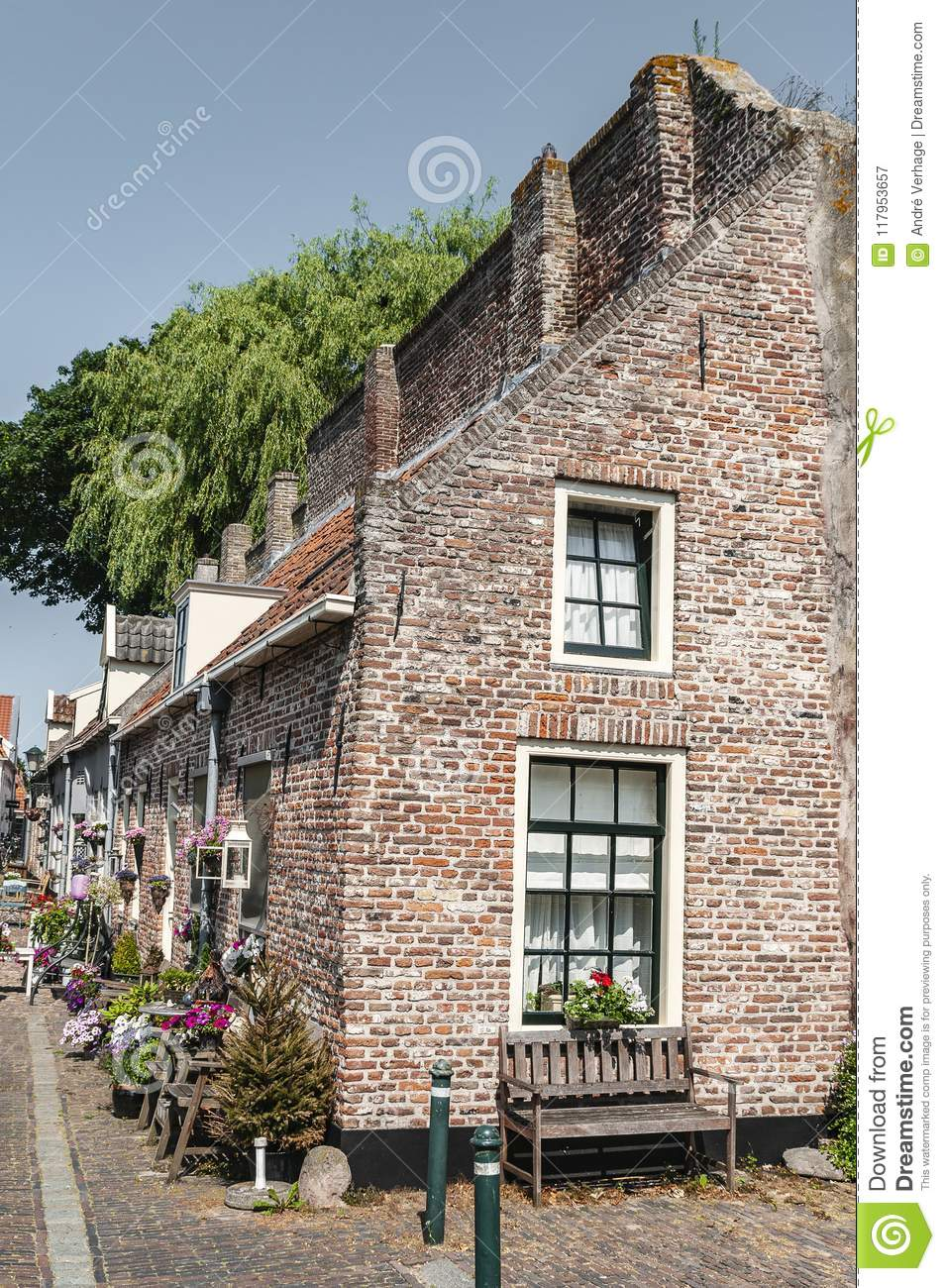Old Dutch Houses In The Town Of Hardenberg Stock Image Image Of