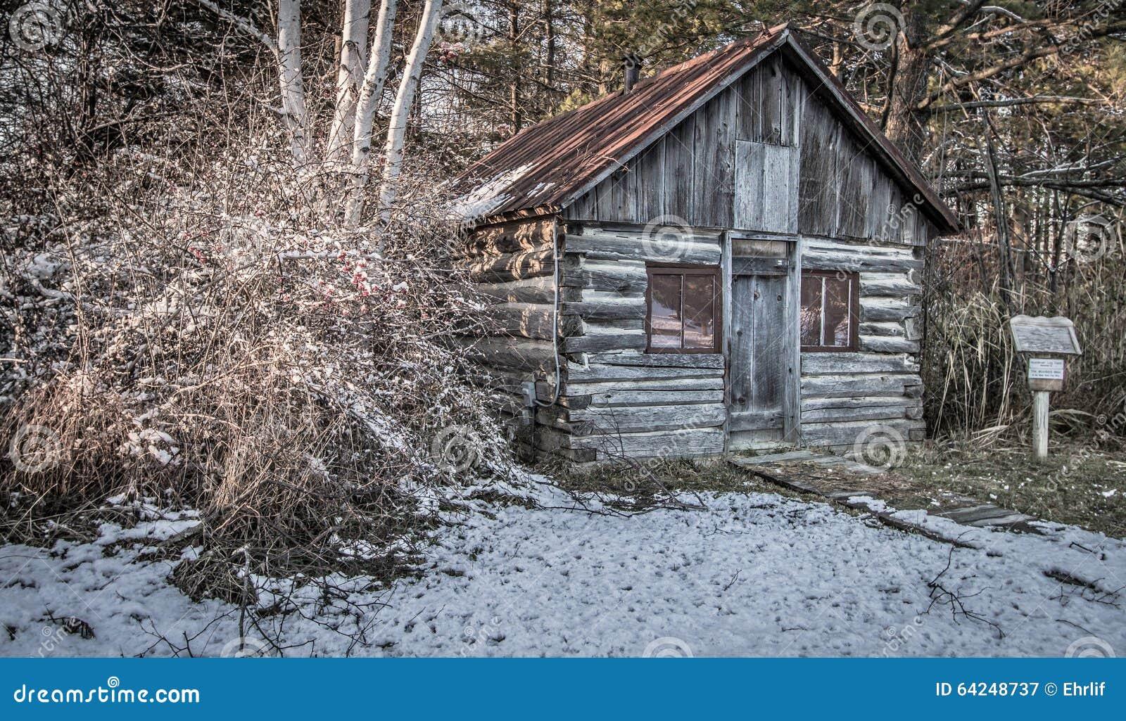 historical pioneer log cabin stock image image of cozy american 64248737. Black Bedroom Furniture Sets. Home Design Ideas