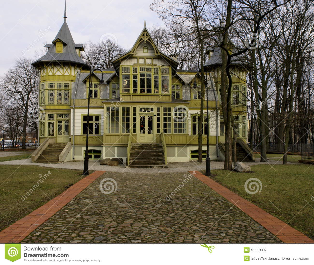 Historical Villa From Lodz Stock Image Image 51119897