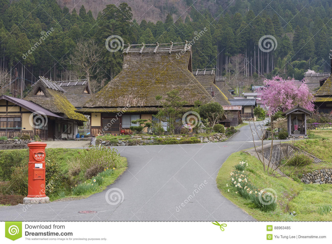 Historical village Miyama in Kyoto, Japan