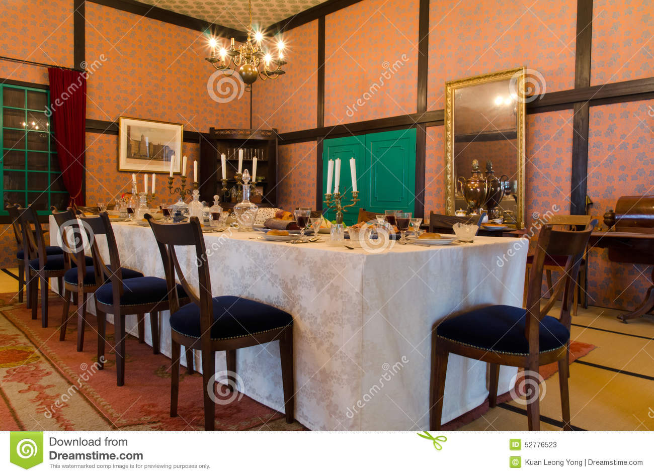 Historical Western Style Dining Room In Japan
