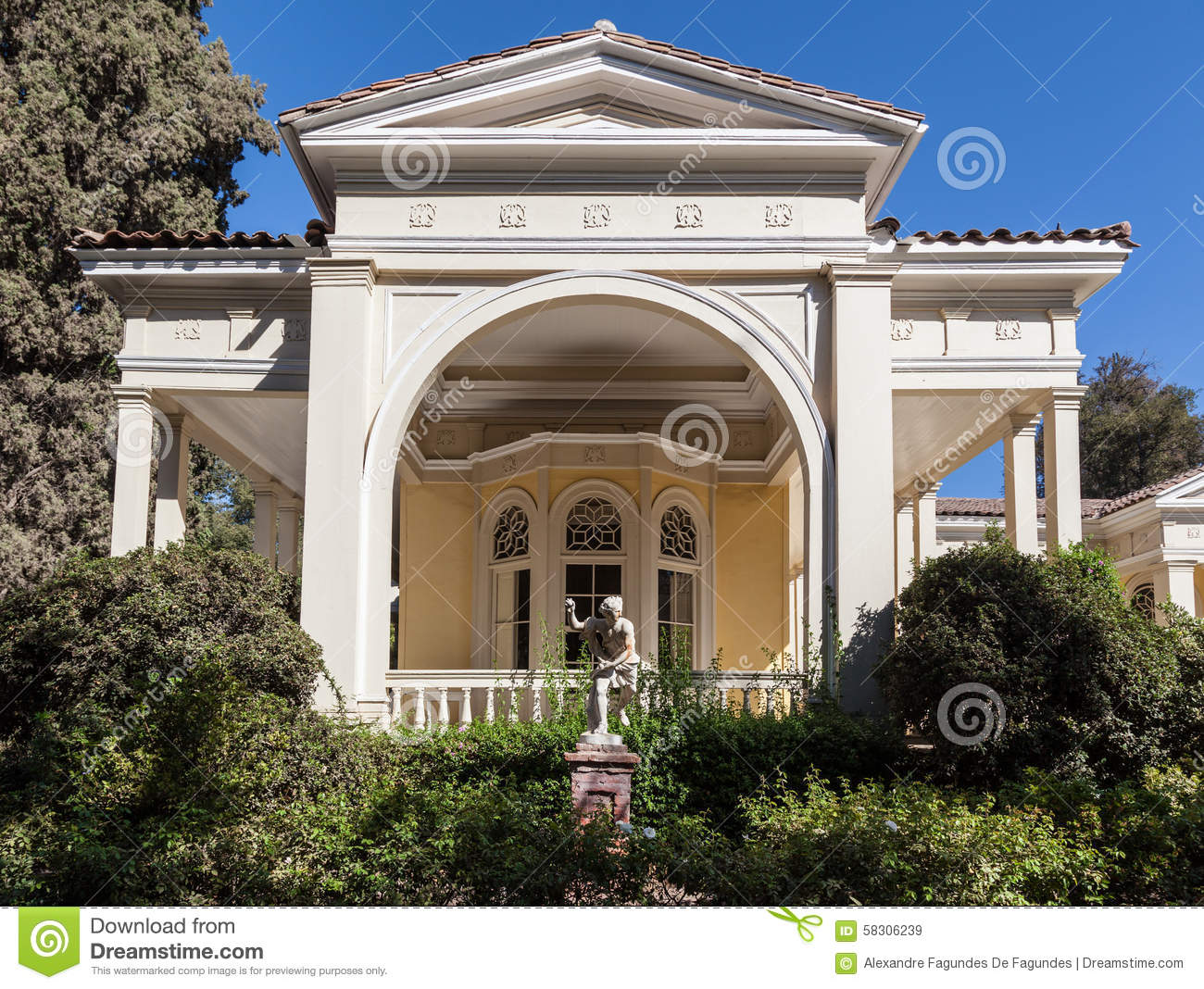 Historical winery house santiago do chile stock photo for Classic house plants