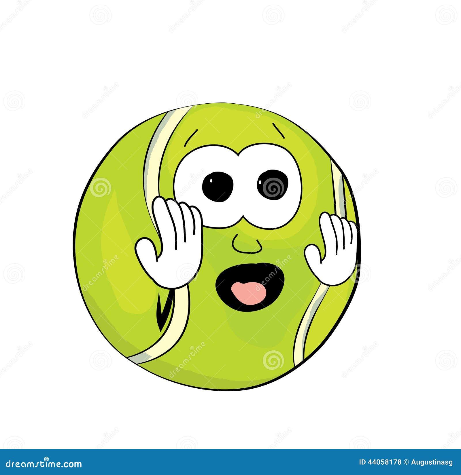 Tenis pelota stock de ilustracion ilustracion libre de stock de - Historieta Asustada De La Pelota De Tenis Stock De Ilustraci N