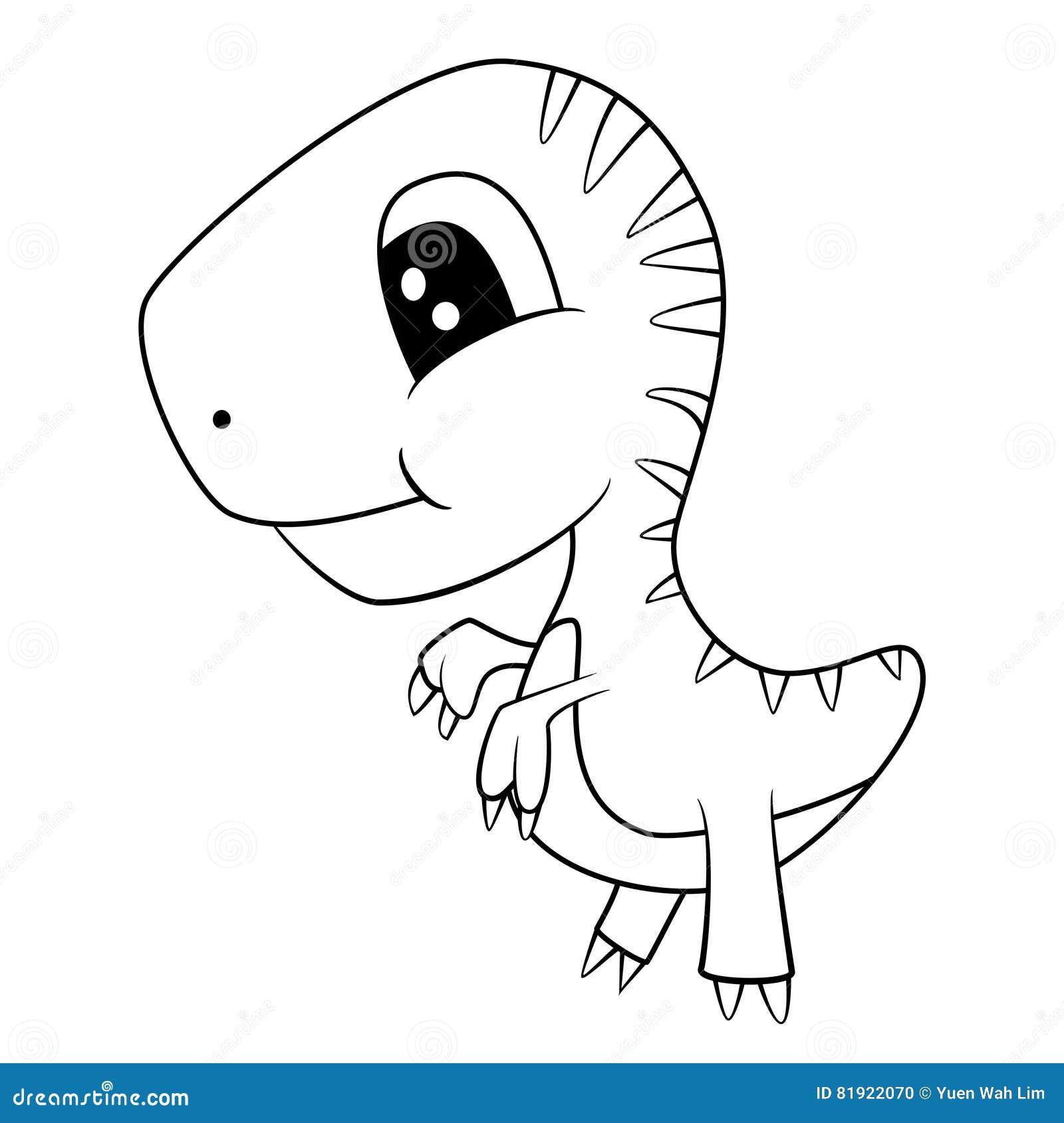 Blanco Y Negro Dinosaurio Ilustraciones Stock, Vectores, Y Clipart ...