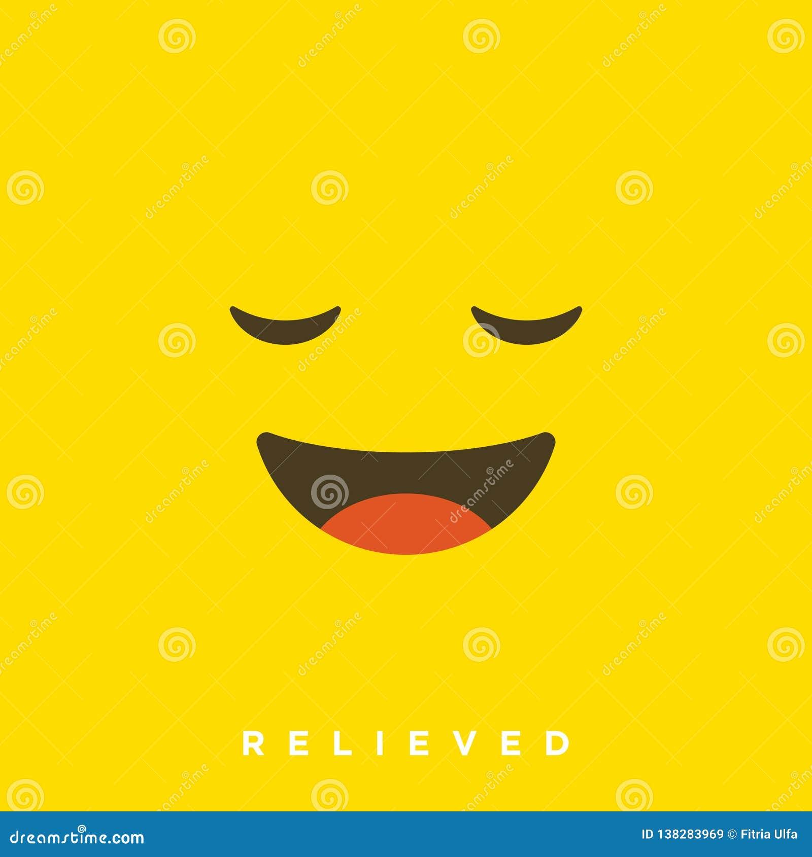 Historieta de alta calidad del vector con los emoticons aliviados con estilo plano del diseño, reacciones sociales de los medios