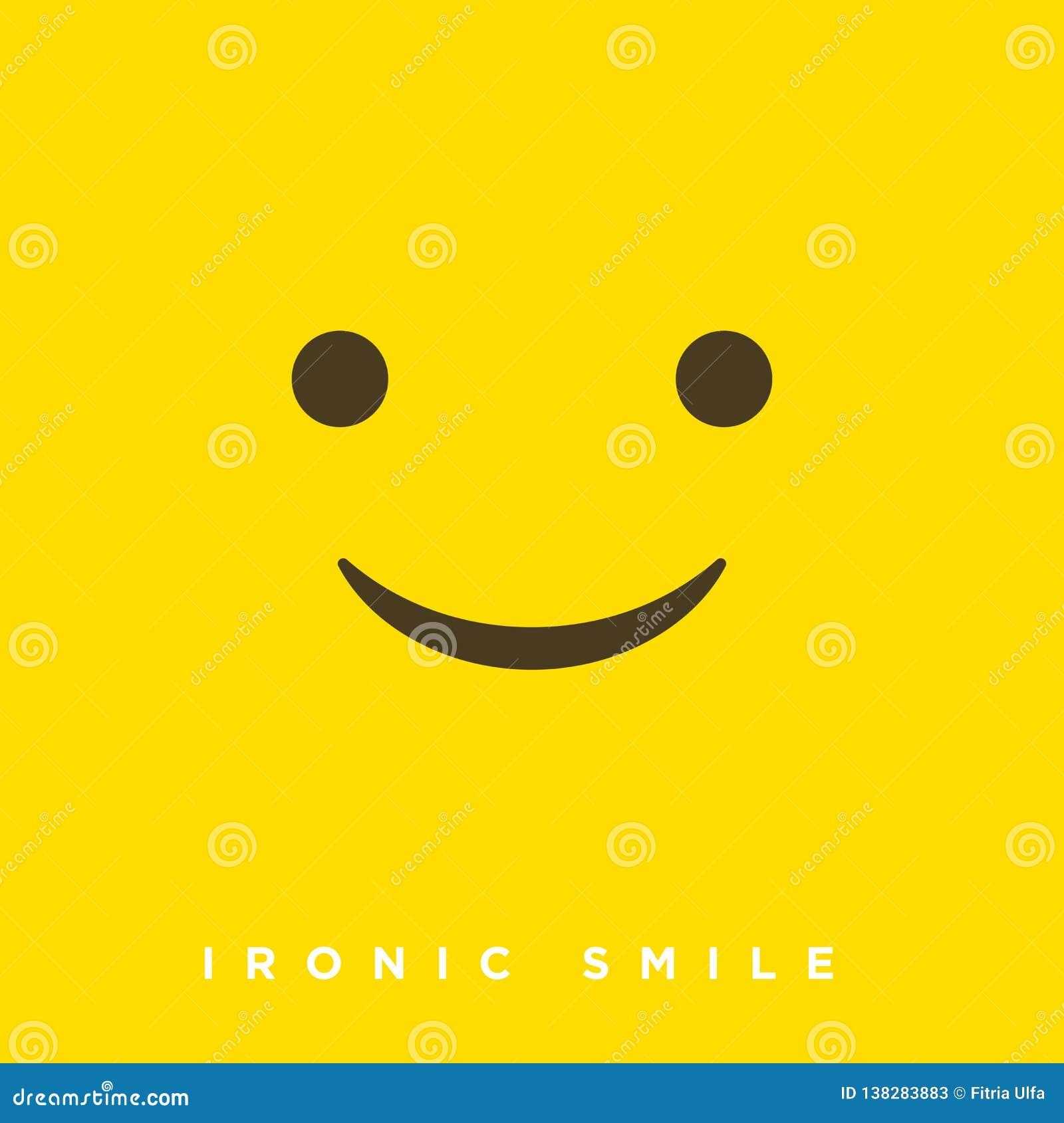 Historieta de alta calidad del vector con los emoticons irónicos con estilo plano del diseño, reacciones sociales de los medios -