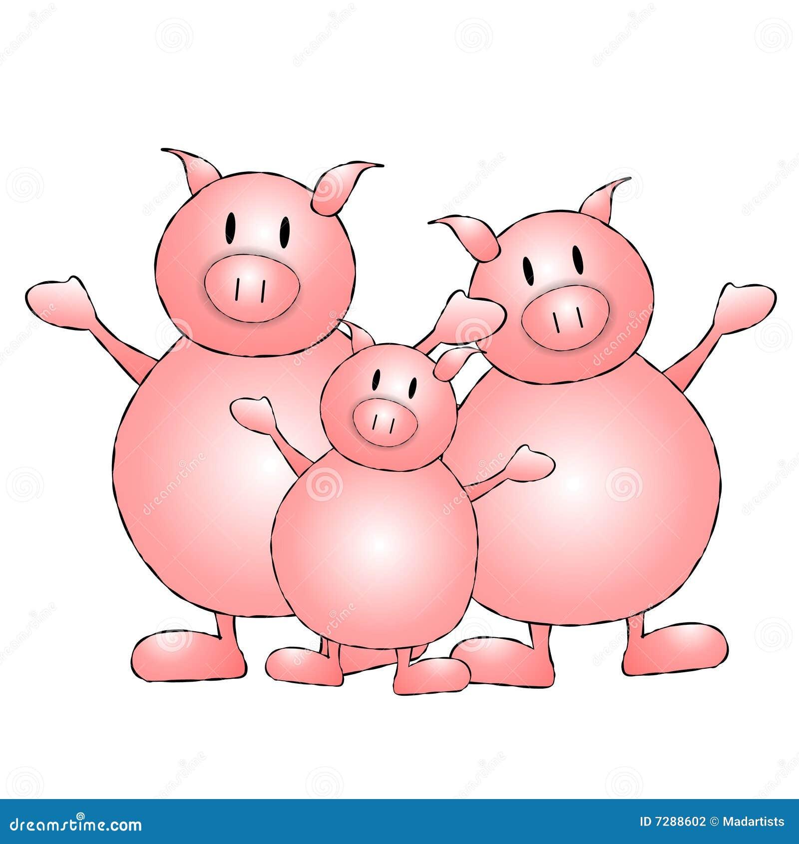Historieta de tres pequeña cerdos