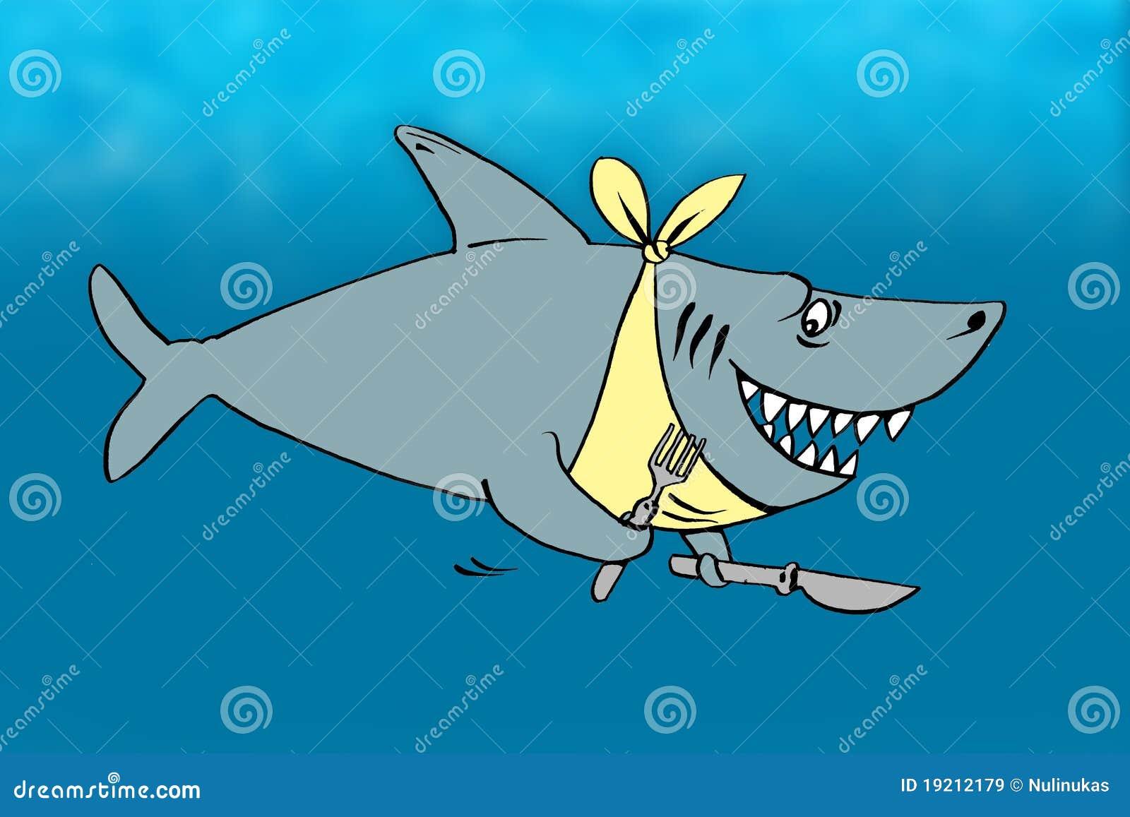 Historieta de un tiburón hambriento