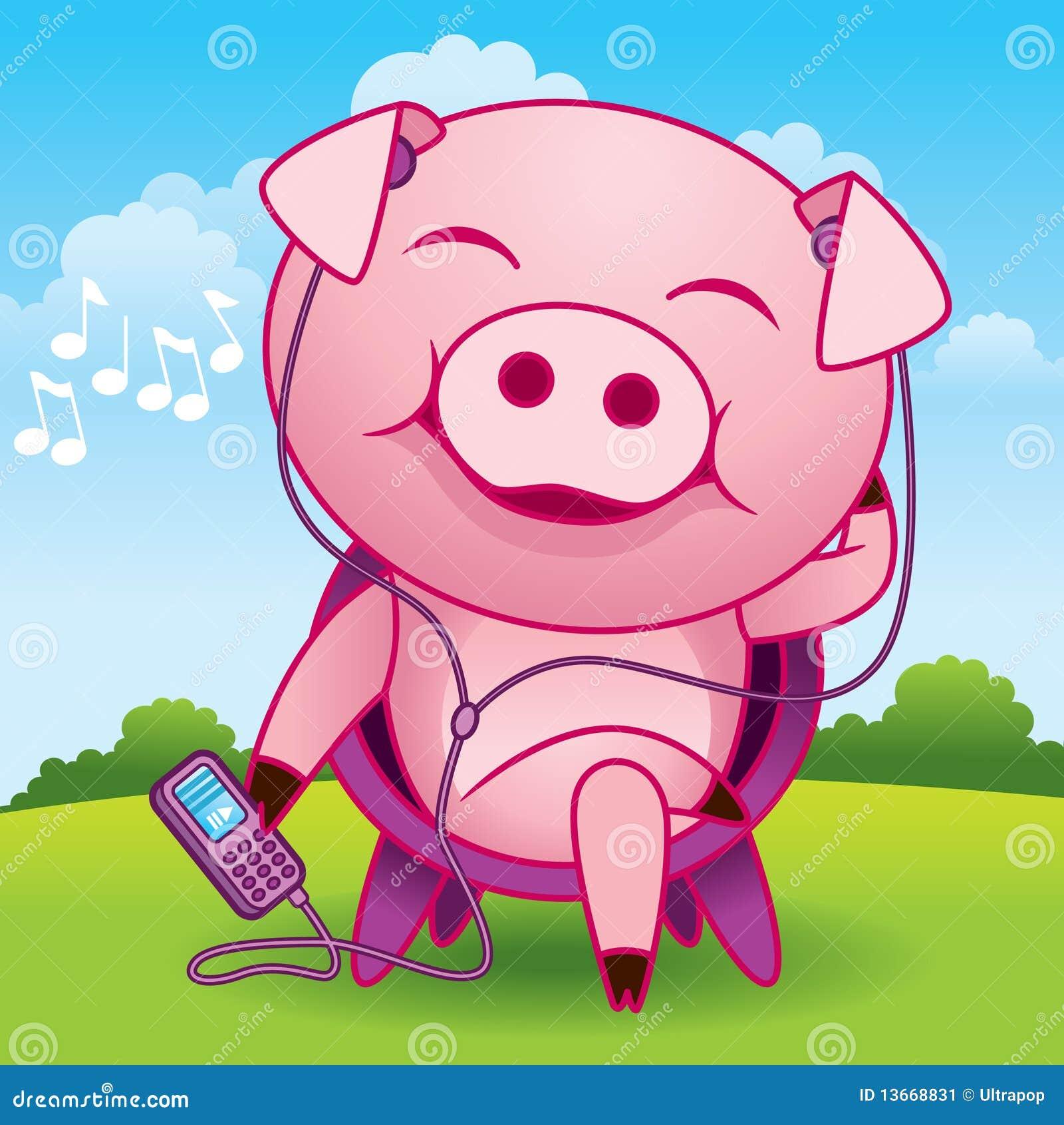 Historieta del cerdo de la música