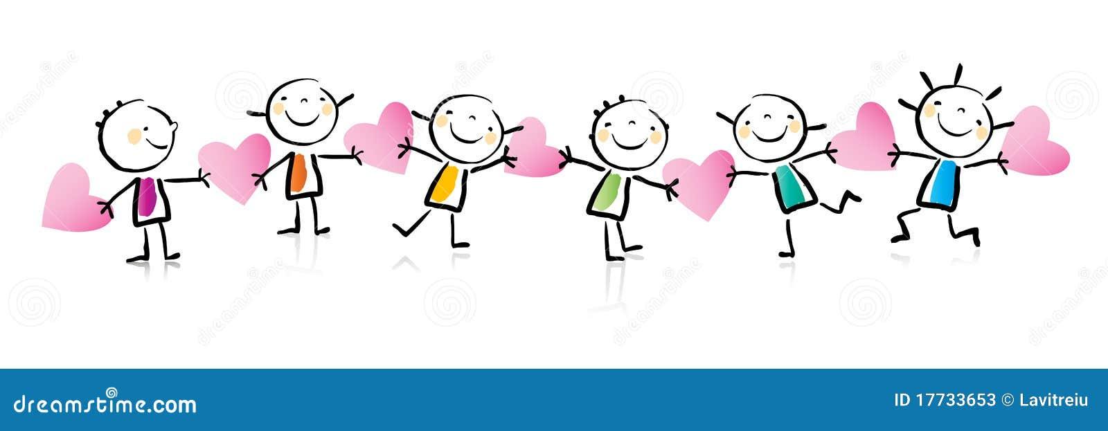 Historieta del día de tarjeta del día de San Valentín