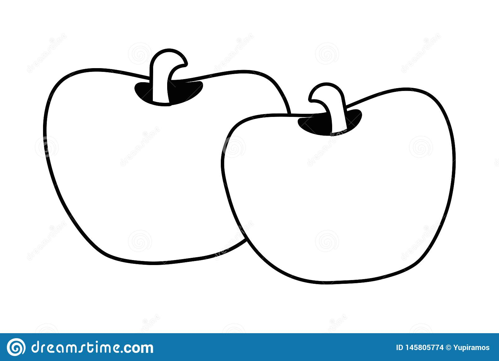Historieta dulce de las manzanas