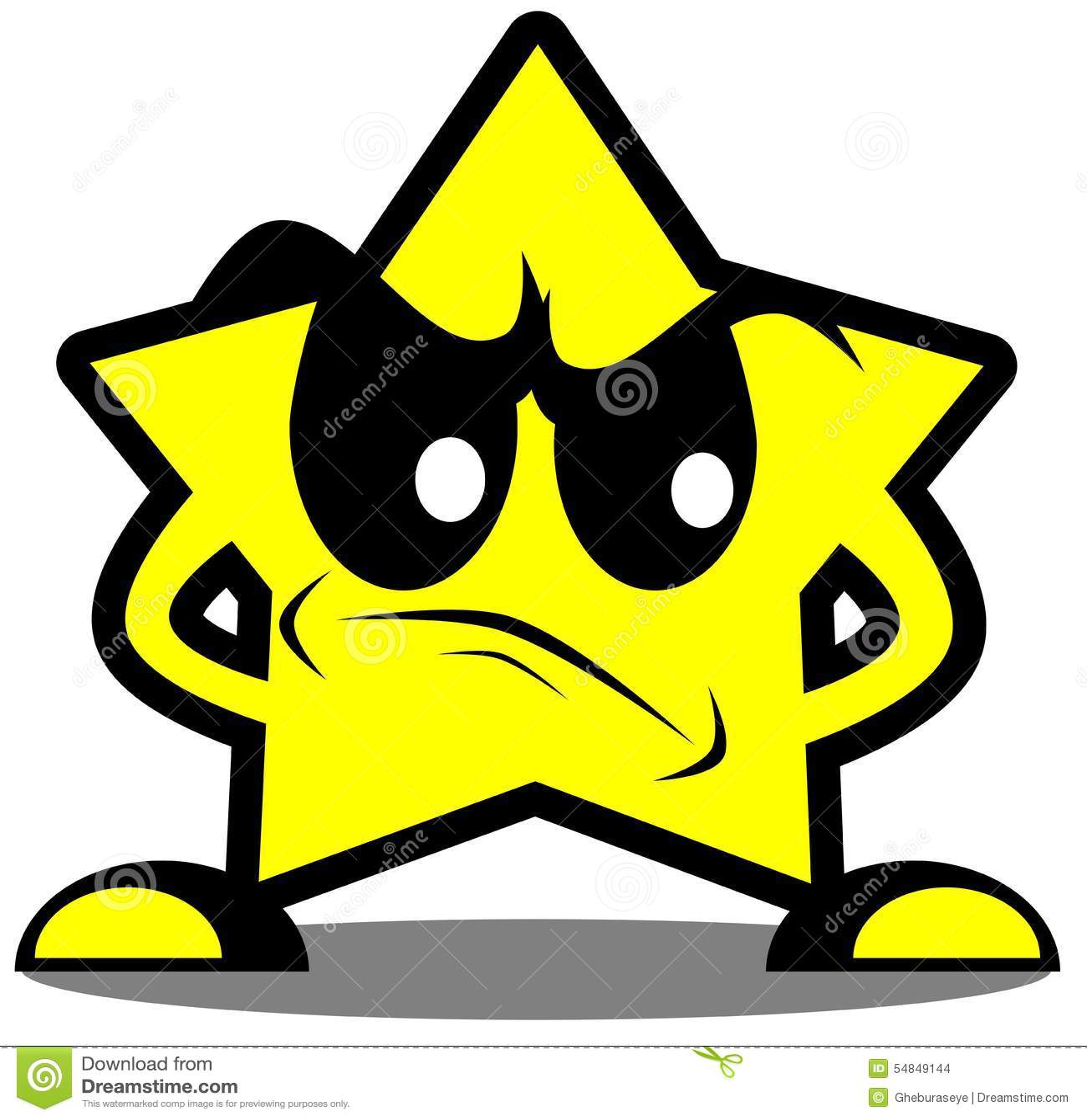 Historieta enojada de la estrella aislada