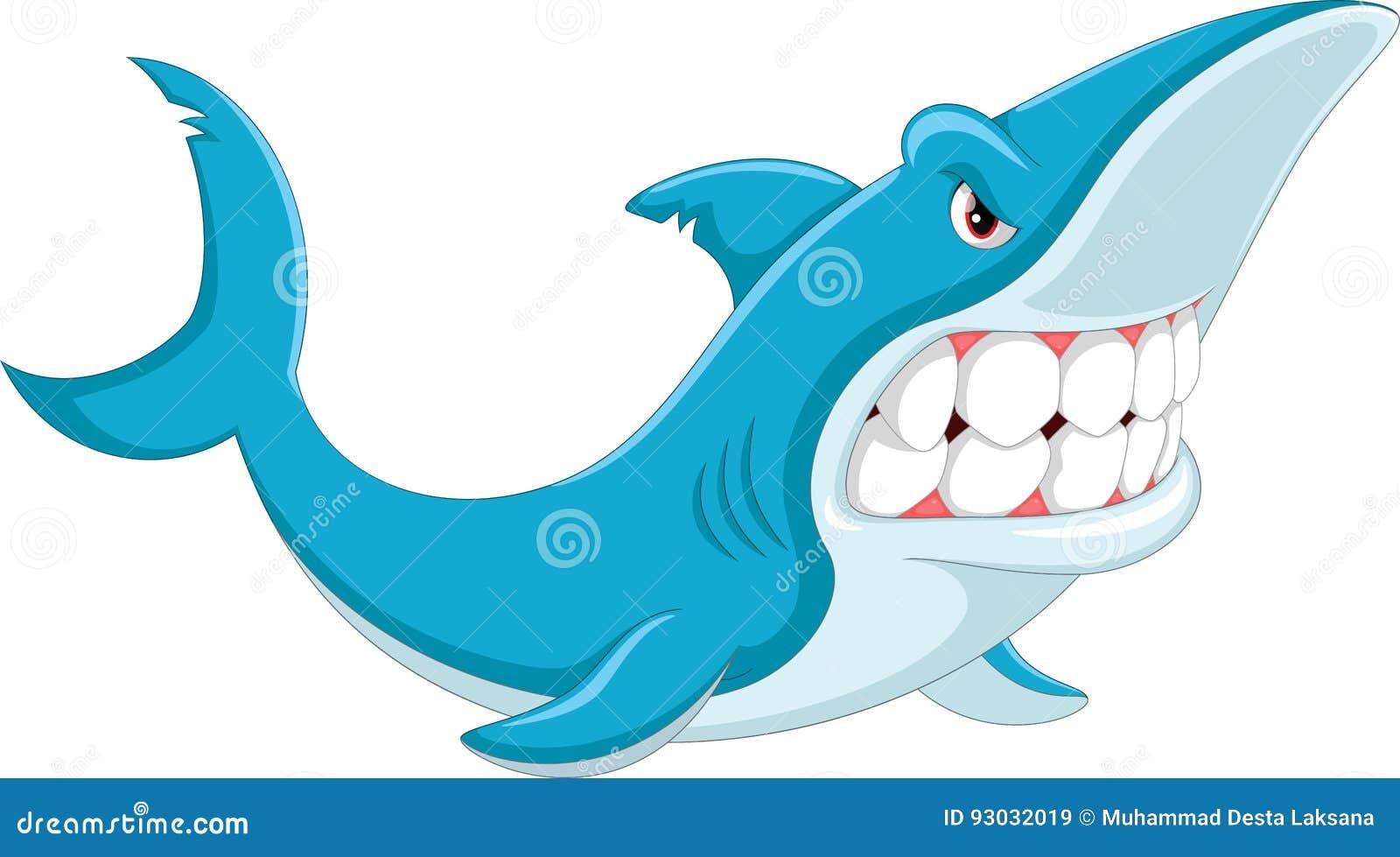 Historieta enojada del tiburón