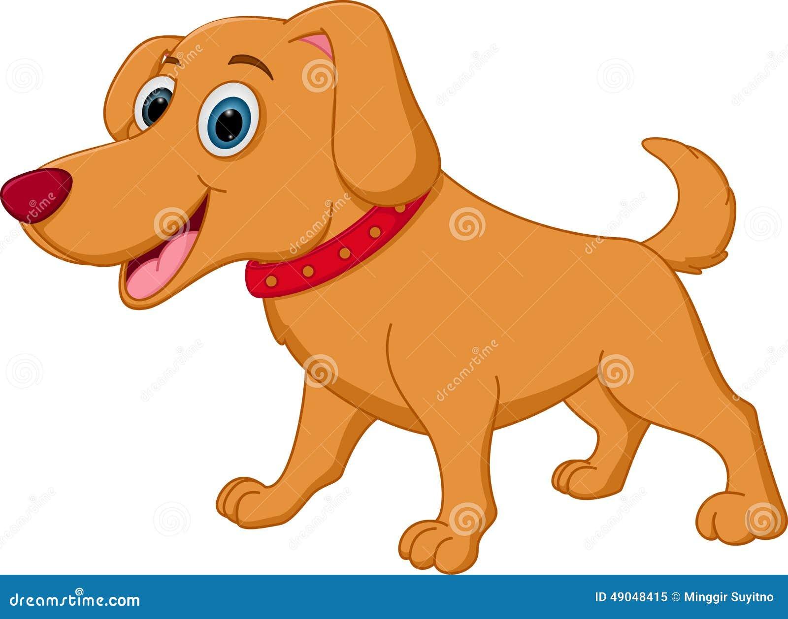 Historieta feliz del perro