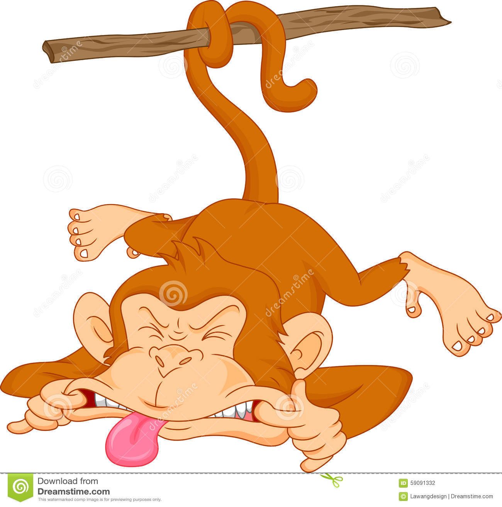 Historieta linda del mono del bebé