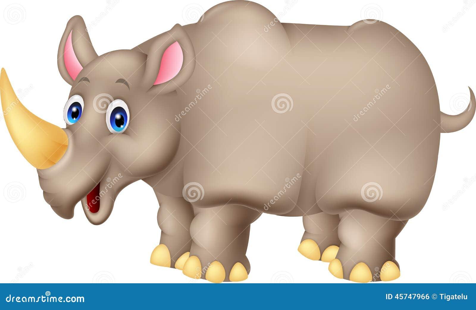 Historieta linda del rinoceronte
