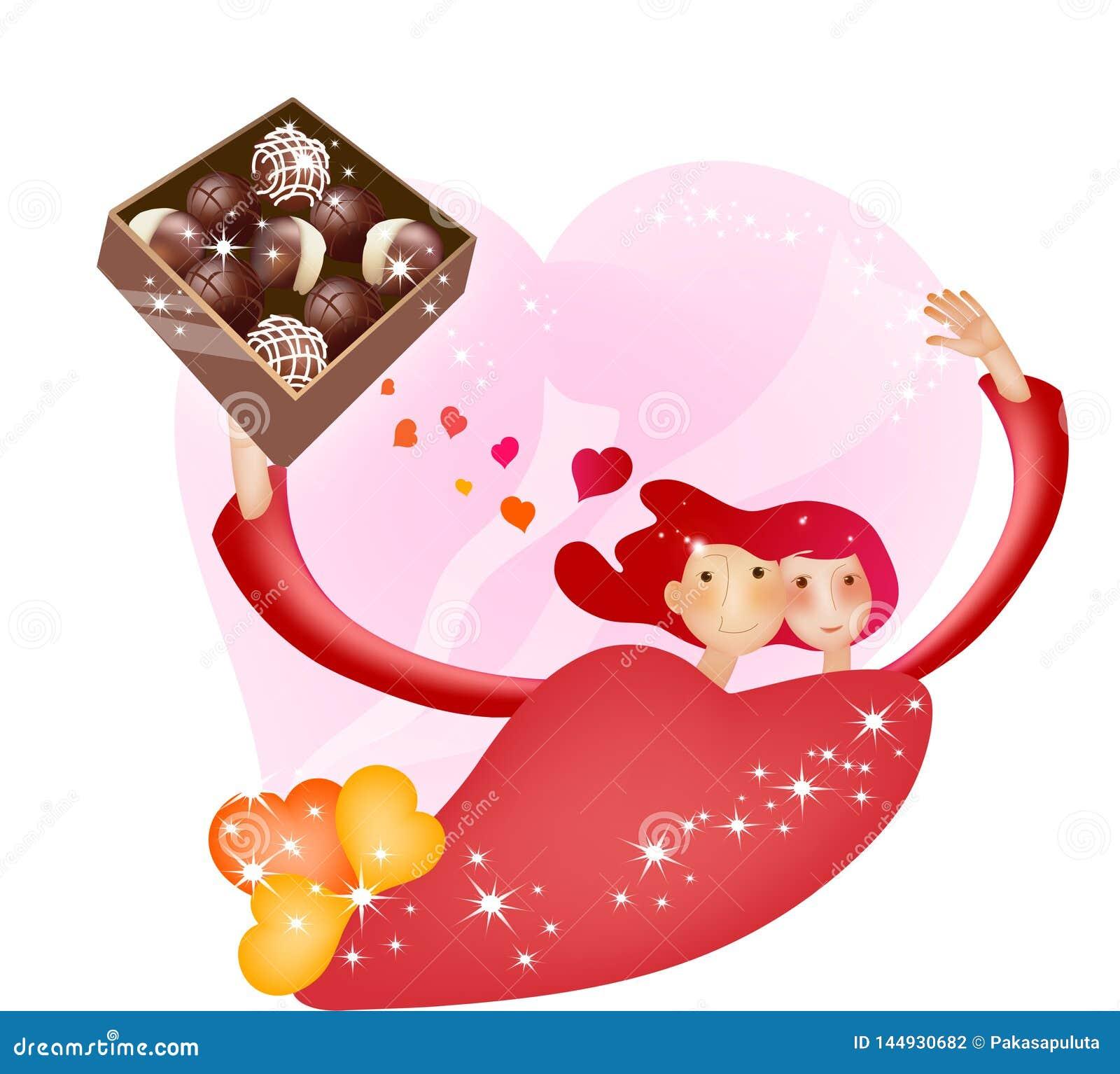 Historieta preciosa Charactors para el día de la Navidad y de tarjeta del día de San Valentín