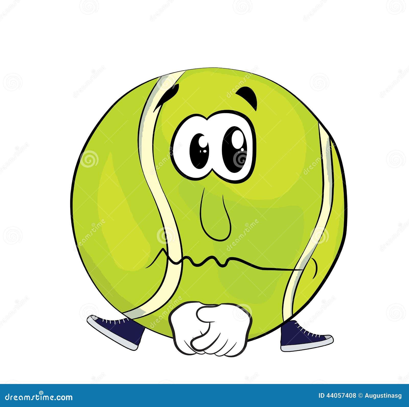 Tenis pelota stock de ilustracion ilustracion libre de stock de - Historieta Triste De La Pelota De Tenis Stock De Ilustraci N