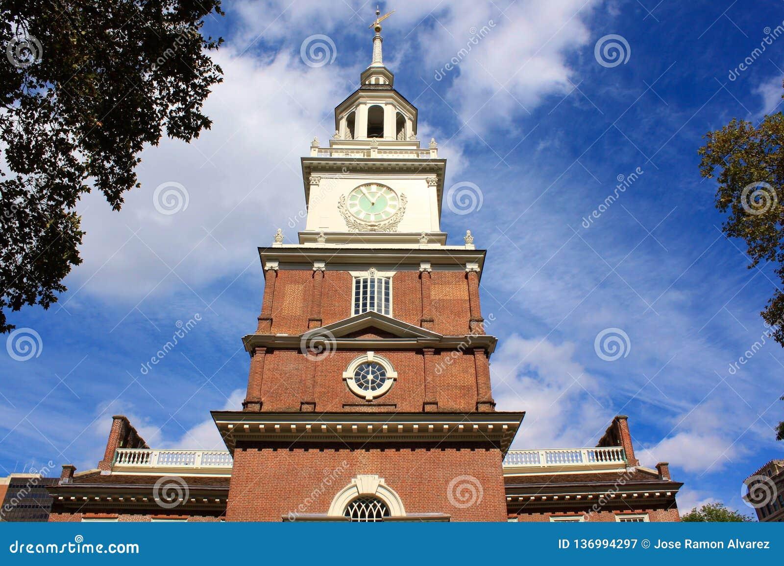 Historisch en oud stadhuis van Philadelphia