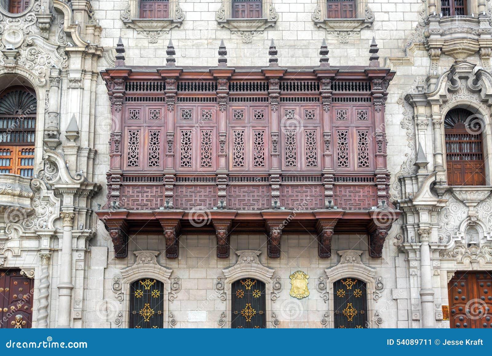 Historische Architectuur in Lima, Peru