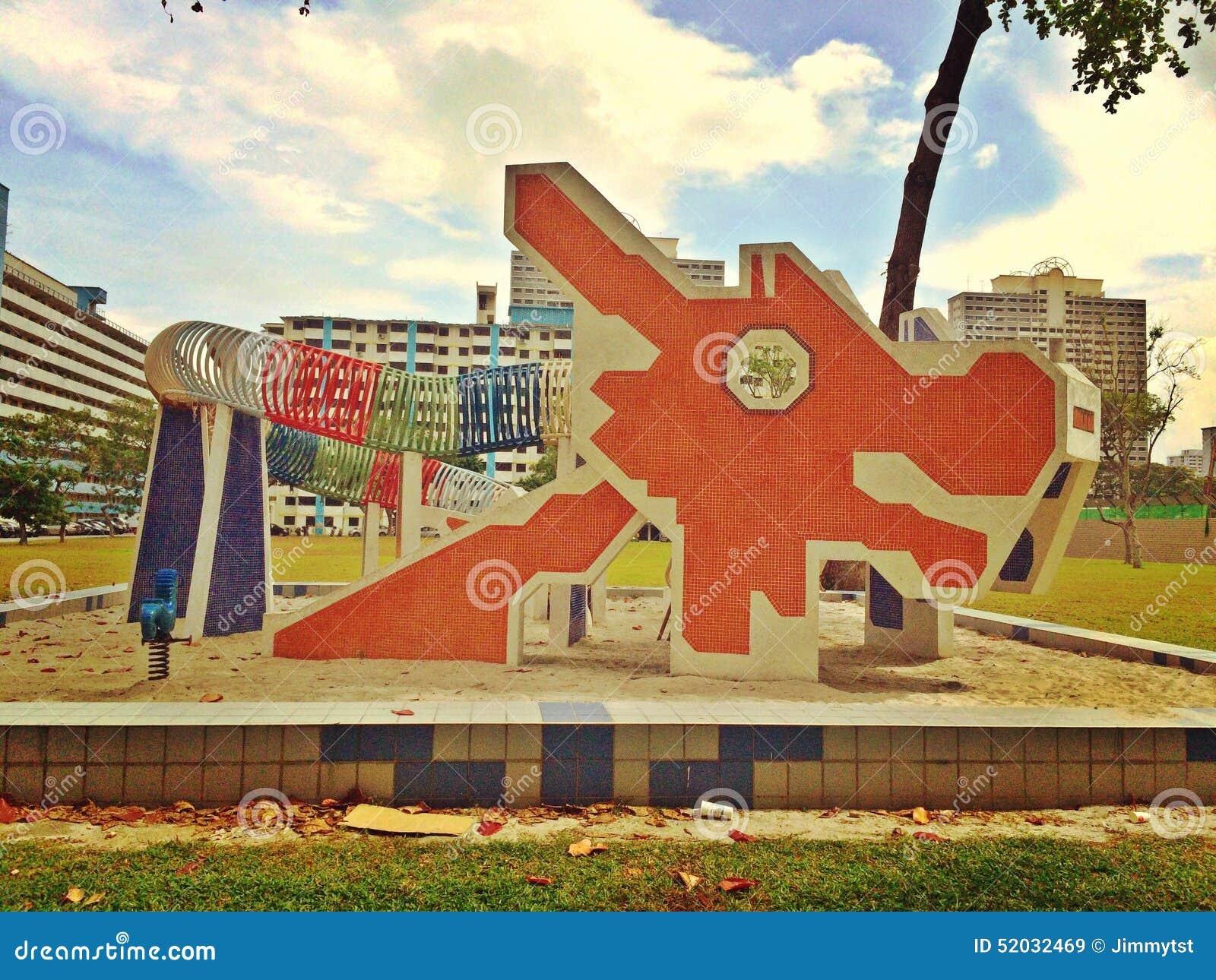 Historische draakspeelplaats in Singapore
