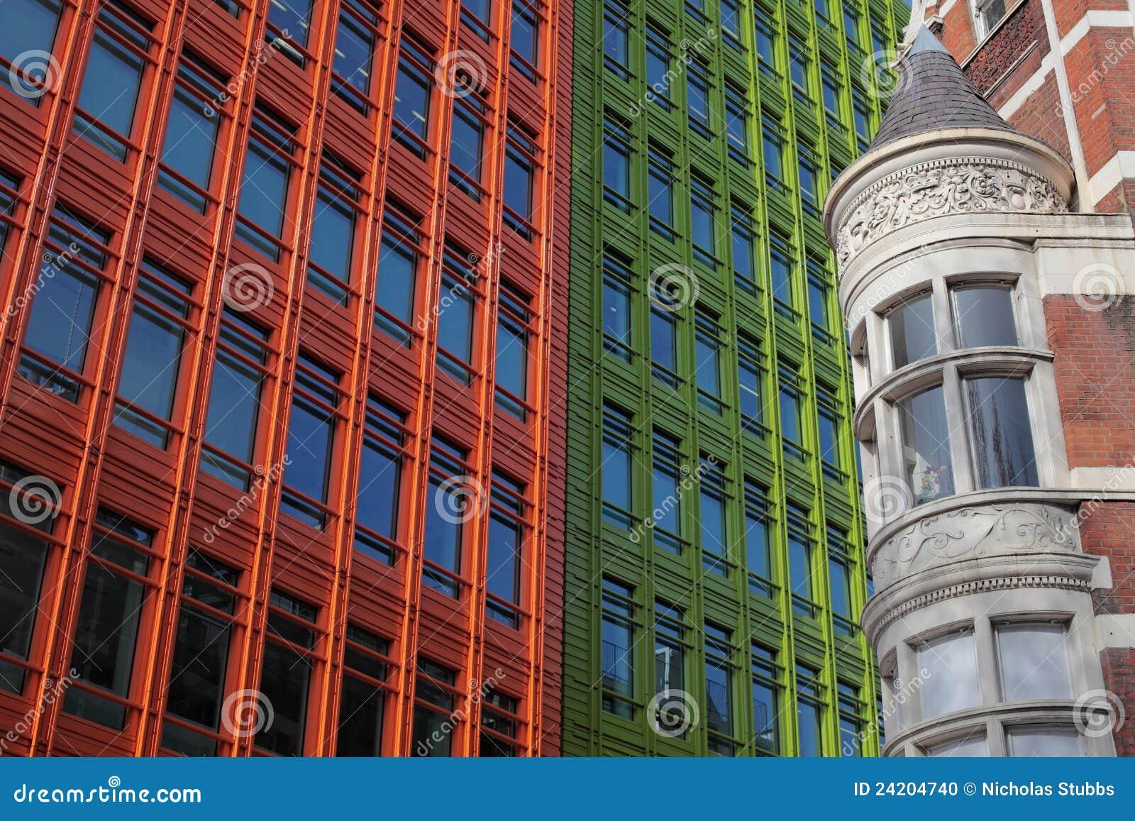 Historische en moderne architectuur in londen stock foto for Architecture moderne londres