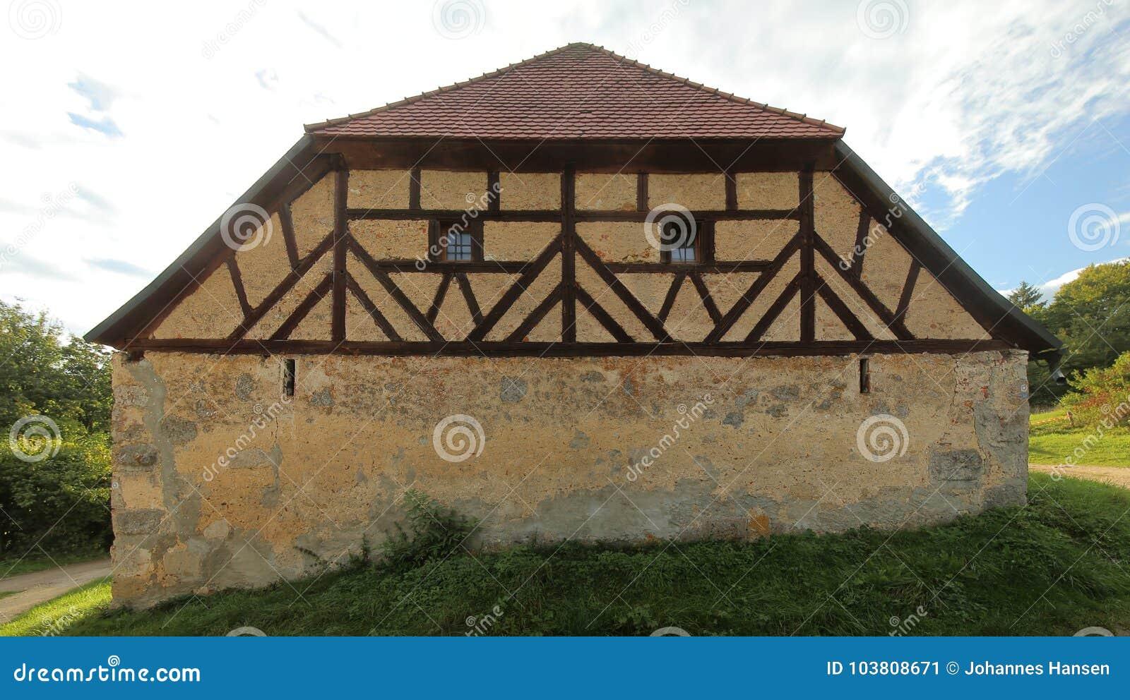 Historische Fachwerk- Scheune in Pfaffenhofen, obere Pfalz, Deutschland