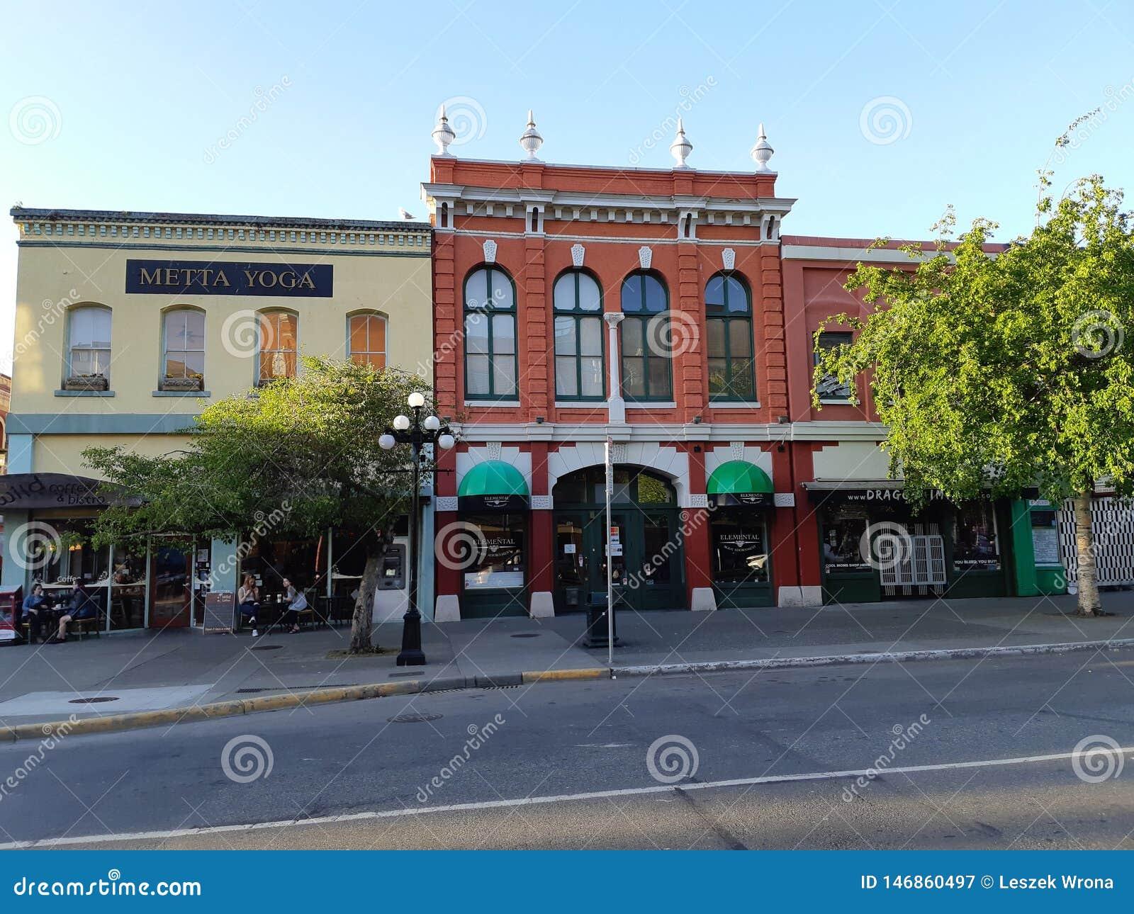 Historische Gebäude in im Stadtzentrum gelegener Victoria, Kanada