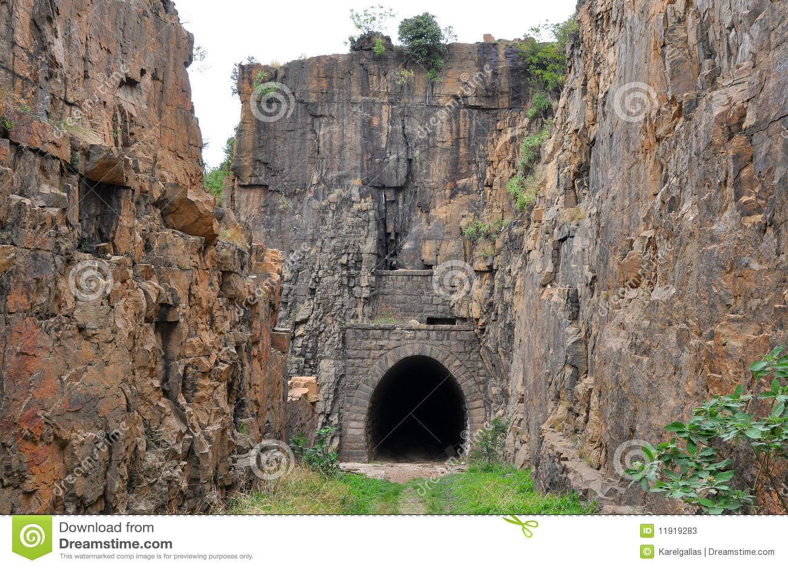Historische gezichtsNZASM tunnel, Zuid-Afrika